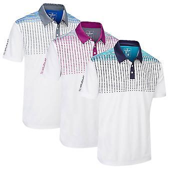 Stuburt Mens Sport Tech Whixley Moisture Wicking Golf Polo Shirt