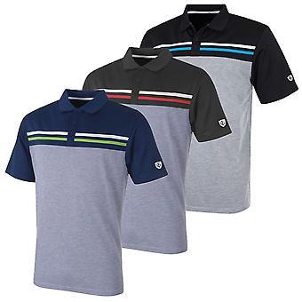Island Green Mens Golf IGTS1785 Laid On Stripe Polo Shirt