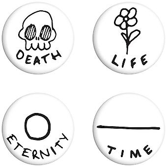 Grindstore Death Life Eternity Time Badge Pack