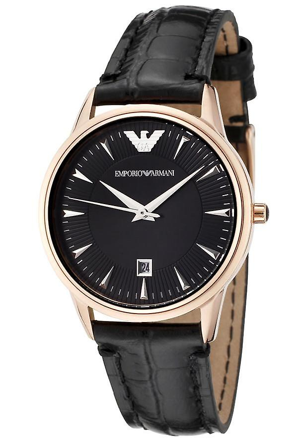 Emporio Armani Ar2445 Classic Leather Black Dial Ladies Watch