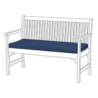 Gardenista® Blue Water Resistant Seat Pad for 2 Seater Bench