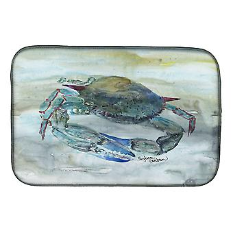 Carolines Treasures  SC2003DDM Blue Crab Watercolor Dish Drying Mat