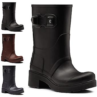 Womens Hunter Original Ankle Boot Rubber Low Heel Waterproof Wellingtons