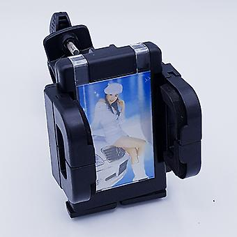 360 degree motor/bicycle mobile phone holder with picture frame-black-extra wide