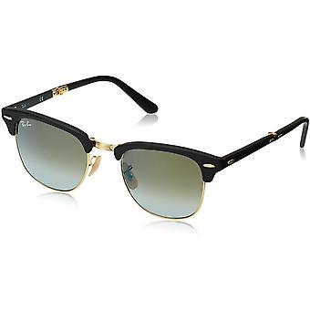 Ray-Ban Clubmaster hopfällbara solglasögon svart matt/grön acetat - RB2176-901S9J-51