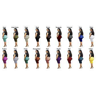 Dbg women's peplum high waist summer skirts
