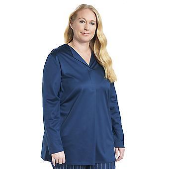 Rösch 1194531-11726 Women's Curve Denim Blue Cotton Pyjama Top