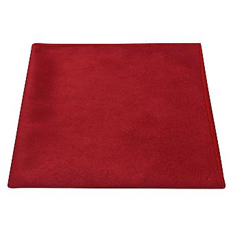 Luxe Chilli Red Suede Pocket Square, mouchoir