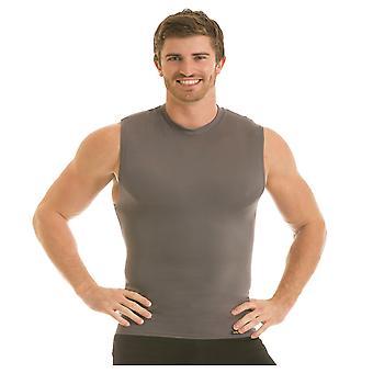 Insta Slim Pro Active Wear Sans manches Crewneck Firming Under Shirt - Forza Gray