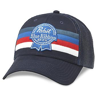 Pabst blau Band Bier gestreift verstellbar Royal Navy Snapback Hut