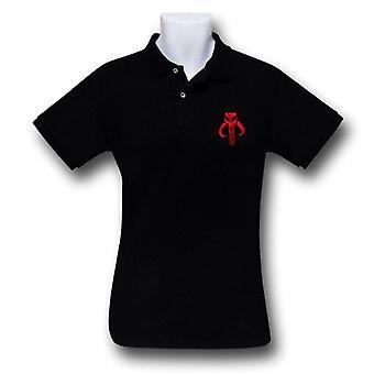 Camisa Polo Negro Mandalrian de Star Wars