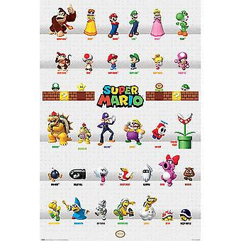 Super Mario Poster Character Parade 278