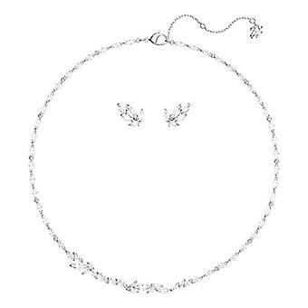 Swarovski sæt Louison-medium-hvid-rhodio plating