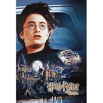 हैरी पॉटर और चैंबर ऑफ सीक्रेट्स (हैरी & फ्लाइंग कार रिप्रिंट) रिप्रिंट पोस्टर