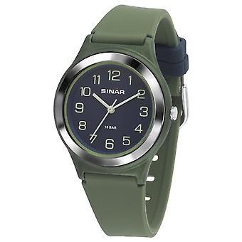 SINAR Youth Watch Zegarek Analogowy Kwarc Boys Silikonowa Wstążka XB-48-3 Zielony Niebieski
