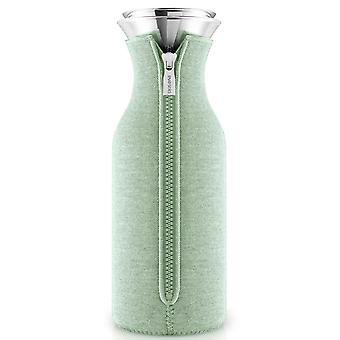 Caraffa frigo solista Eva con vestito tessuto eucalipto verde / luce verde 1,0 litri