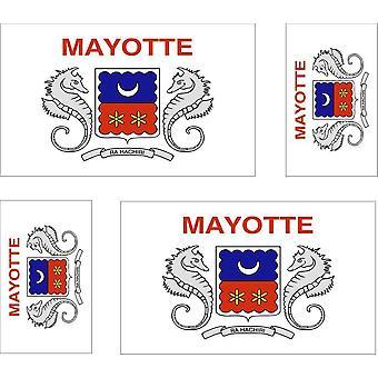 4 x Aufkleber Aufkleber Motorrad Auto Flagge Mayotte