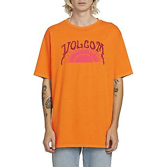 Volcom Savage Sun Short Sleeve T-Shirt in Fusion Orange
