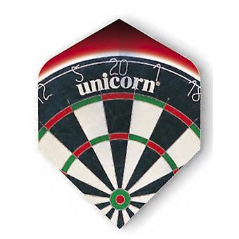 Unicorn Darts Core .75 Micron Plus Flights Metallic Holgram Range - Dartboard