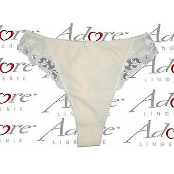 Adore Lingerie 'Sunflower' Thong with Pretty Embroidery