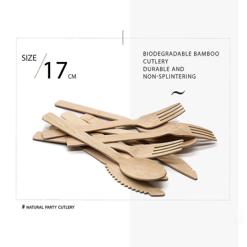 Biodegradable bamboo cutlery 30