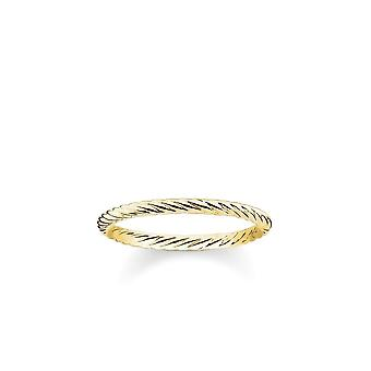 Thomas Sabo Sterling Silver Thomas Sabo Gold Cord Ring TR2121-413-12