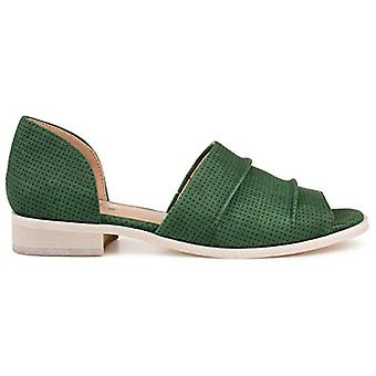 Brinley Co. Womens Perforated Open-Toe Flat