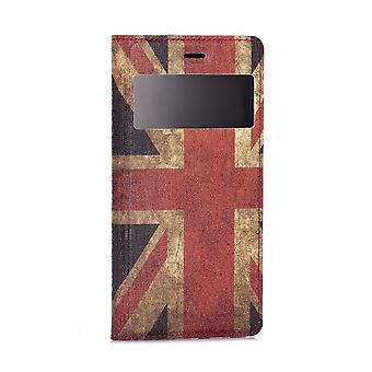 حالة لهواوي P8 لايت (2015) مع نافذة عرض نمط العلم المملكة المتحدة