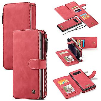 Galaxy S10th Red Multifunction Wallet Case - Caseme