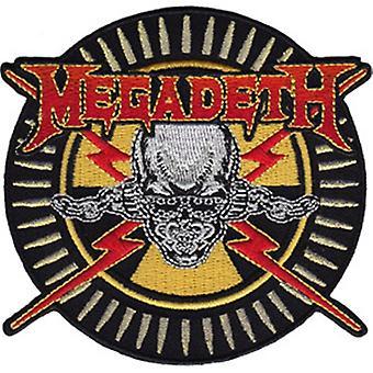 Megadeth broderet sy på klud Patch