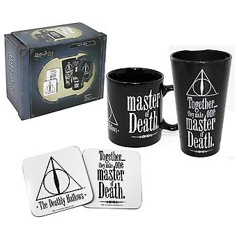 Harry Potter Gift Box Deathly Hallows Black/White, Printed, 4 Piece, in Gift Box.