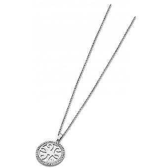 Necklace and pendant privileges LS1779-1-1 - necklace and pendant circle crystals Ajour woman