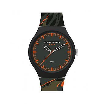 Superdry Watch SYG270BO-Urban XL camo pop sort plastik sag grå dial grå armbånd grå mønstre