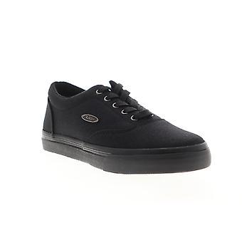 Lugz Vet CC  Mens Black Canvas Lace Up Low Top Sneakers Shoes