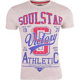 Soul Star Men's Printed Graphic Short Sleeved Crew Neck Soft Cotton T Shirts