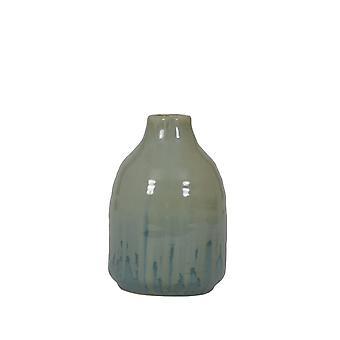 Ljus och levande vas Deco 12.5x18.5cm Hajos Blå Grön