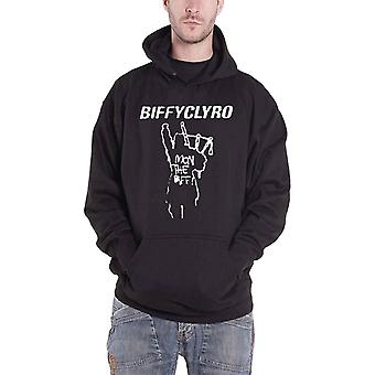 Biffy Clyro Mon The Biff Logo Official Mens New Black Pullover Hoodie