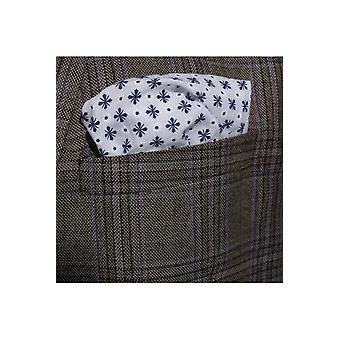 JSS Blue And Cream Polka Cotton Hanky