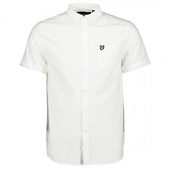 Lyle & Scott White Oxford Short Sleeve Shirt SW1208V