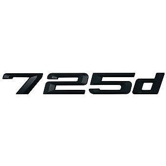 Matt Black BMW 725d Car Model Rear Boot Number Letter Sticker Decal Badge Emblem For 7 Series E38 E65 E66E67 E68 F01 F02 F03 F04 G11 G12