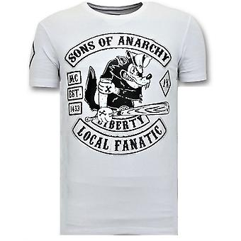 T-shirt z nadrukiem - Sons Of Anarchy MC - Biały