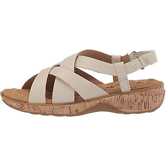 SoftWalk Womens S1902-001 Leather Open Toe Casual Strappy Sandals