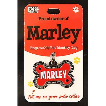 Wags & Whiskers Pet Identity Tag - Marley