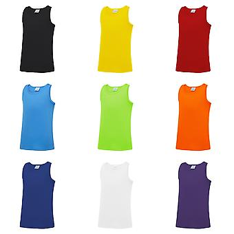 AWDis Just Cool Childrens/Kids Plain Sleeveless Vest Top