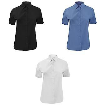 Russell colección damas/las mujeres corto manga polivinílico-algodón camisa de popelin de fácil cuidado