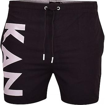 Kangol Mens Kangol Designer Simning Shorts Trunks Drawcord Beach Casual Mesh Fodrad