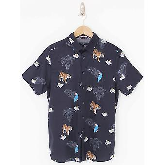 Ted Baker Kochops Animal Print Shirt - Navy