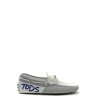 Tod's Ezbc025077 Men's Grey Leather Loafers