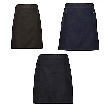 Premier Unisex Adults Division Waxed Look Denim Waist Apron