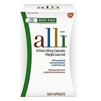 Alli orlistat 60 mg capsules weight loss aid refill, 120 ea